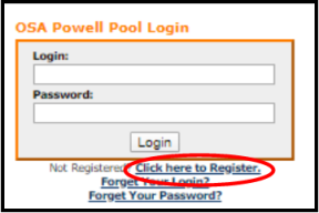 OSA Powell Pool Login