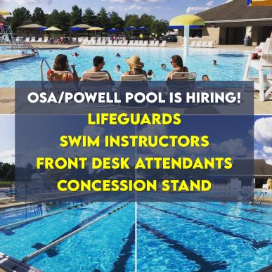 Powell pool is hiring