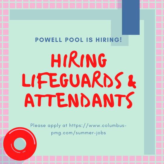 Powell pool is hiring!